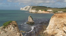 042-England-Wight-Freshwater Bay-Kreidefelsen-2