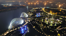 143-Singapur-Gardens-by-the-Bay-Nacht-1